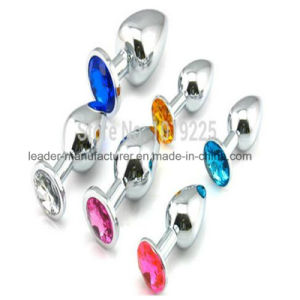 50 PCS/Lot Large Size Metal Anal Toys Butt Plug 95mmx40mm Stainless Steel Crystal Jewelry Anal Plug Adult Sex Toys GS0025 pictures & photos