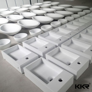 Small Cabinet Wash Basin Solid Surface Wash Hand Basin for Cabinet pictures & photos