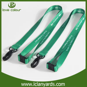 Company Logo Custom Black Plastic Hook Lanyards for Clients pictures & photos