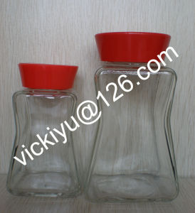 210ml~420ml Glass Coffee Jars, Glass Coffee Containers with Plastic Cap pictures & photos