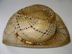 Fashion Spray Paint Straw Hat Cowboy Hat pictures & photos
