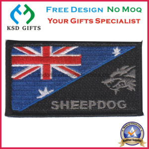 Customized Velcron Flag Embroidery Patch pictures & photos