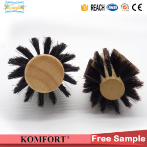 Wood Round Handle Professional Boar Bristle Rolling Hair Brush (JMHF-91) pictures & photos