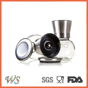 Ws-Pgs022 Stainless Steel Salt and Pepper Grinder Set with Adjustable Ceramic Rotor pictures & photos