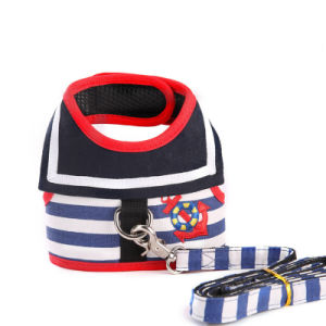 Stripes Fashion Pet Lead Design Sailor Dog Harness with Leash pictures & photos