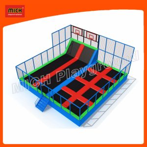 2017 Mich Indoor Trampoline for Kids Amusement Park Round Trampoline 7124A pictures & photos