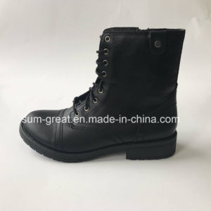 2017 Fashion PU Leisure Kid Women Shoes Boots 438 pictures & photos