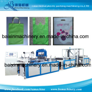 Nonwoven Fabric T Shirt Handle Bag Making Machine pictures & photos