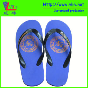 Simple EVA Flip Flop with Logo Printed on Insole