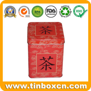 Square Tin Tea Caddy for Tea Tin Box Packaging pictures & photos