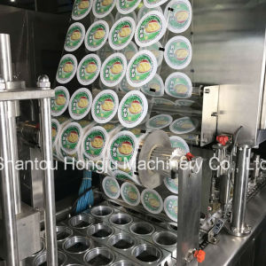 Automatic Fruit Jam Filling and Sealing Machine for Plastic Cup pictures & photos