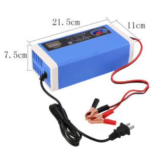 12-24V 10A Power LCD Motorcycle Car Battery Charger pictures & photos