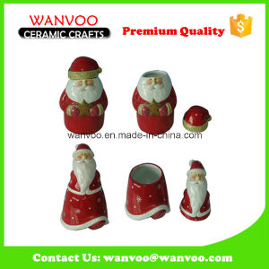Ceramic Christmas Salt and Pepper Bottle for Home Decoration pictures & photos