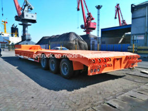 low bed trailer, 3 Axle Low Bed Semi Trailer for Sale pictures & photos