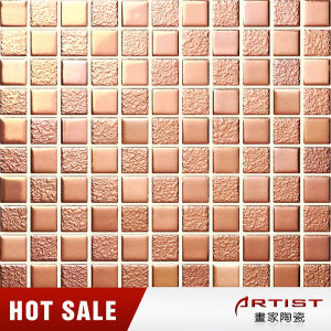 Rose Gold Color 25X25 Ceramic Mosaic Tile for Coffee Shop pictures & photos