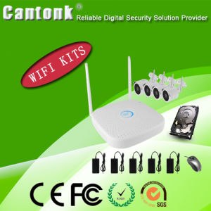 Onvif 4CH 1MP/720p 4CH DVR/NVR WiFi IP Kits (WIFIPGE420RH100) pictures & photos