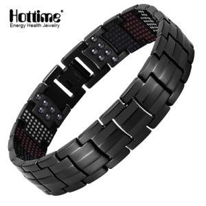 Hottime Fashion Titanium Steel Magnetic Bracelets with 591PCS Energy Stone (10145) pictures & photos