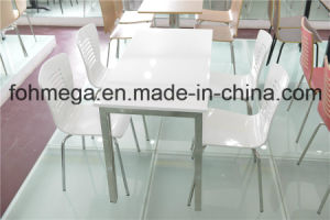 Chinese Restaurant Furniture White Dining Table and Chair (FOH-CXSC50) pictures & photos