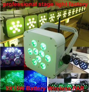5in1 Cheap Price Powered Recharged 9PCS 15W Rgbaw Uplight