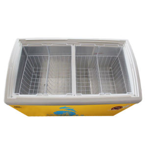 Curve Sliding Toughened Coating Glass Door (for strengthen heat reflex) Freezer pictures & photos