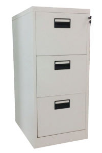 Vertical A4 File 3 Drawer Metal Office Furniture Filing Cabinet pictures & photos