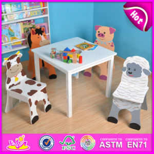 2015 Dining Table and Chair, Kids Writing Table and Chair, Kids Cartoon Study Table and Chair W08g158 pictures & photos