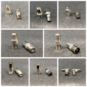 Coaxial Rg RCA BNC TV 9.5mm 2 Male Connector pictures & photos