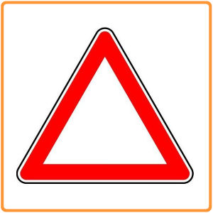 Safety Warning Traffic Sign Triangle / Aluminum Plate Traffic Road Signs pictures & photos