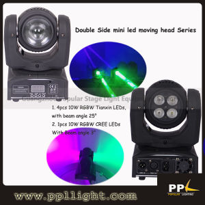 Double Side 4in1 Beam & Wash Stage LED Moving Head Light pictures & photos