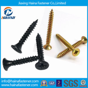 DIN7505 Yellow Zinc Plated Fine Thread C1022A Chipboard Screw / Black Grey Phosphated Bugle Head Coarse Thread Drywall Screw with Competitive Price pictures & photos