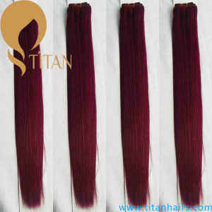 Burg Color Virgin Remy Human Hair Weft