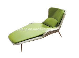 Rattan Outdoor Garden Lounge Chair Single Lounger Lounge with Cushion pictures & photos