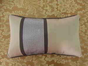 Color Block Grey/Khaki Embroidery Oblong Pillow pictures & photos