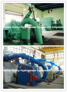 Horizontal Pelton Hydro (Water) Turbine Small Capacity 100~1000kw/ Hydropower / Hydroturbine pictures & photos