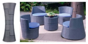 All-Weather Wicker Patio Conversation Sets/Cheap Patio Furniture Sets pictures & photos