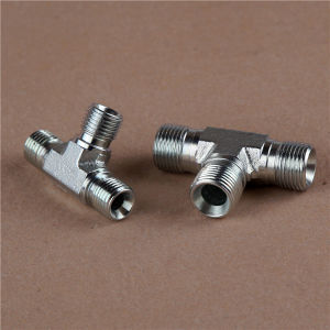 JIS Metric Male 60 Cone Tee Hydraulic Adapter pictures & photos