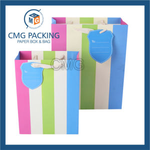 Lovely Colorful Stripes Printed Gift Paper Bag (DM-GPBB-185) pictures & photos