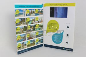 2015 Newest Invitation Video Brochure/ LCD Video Greeting Card with USB Cable/2GB Memory