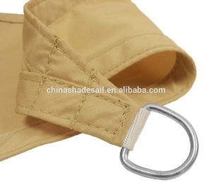 Sand Color of Waterproof Polyester Fabric Garden Sun Shade Sail (Manufacturer)