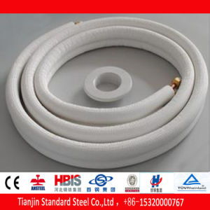 Insulated Copper Dhp-Cu Pipe for Aircondition PE-X White pictures & photos