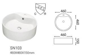 Wholesale Popular American/Canadian Design Ceramic Countertop Basin/Vessel (A-SN103) pictures & photos