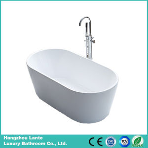 Corner Oval Shape Acrylic Soaking Fiberglass Freestanding Bathtub (LT-2B) pictures & photos