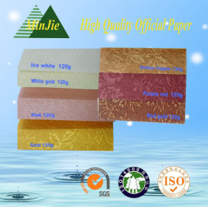 Custom Designed Pattern Embossed Packaging Coated Paper pictures & photos