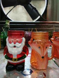 Screw Cap Glass Mason Jar with Handle pictures & photos