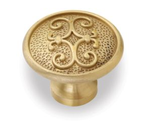 Copper Brushed Furniture Cabinet Round Brass Knobs pictures & photos