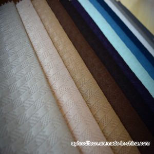 Top Quality Woven Polyester Velour Sofa Upholstery Fabric pictures & photos