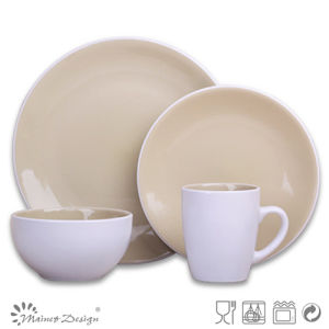 Ceramic Two-Tone Stoneware Dinner Set pictures & photos