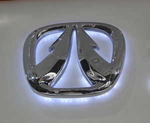 Custom Waterproof Wal Mounted Electroplating LED Car Logo pictures & photos