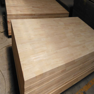 Rubber Wood Finger Joint Board Used for Solid Bed