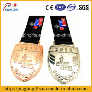 2017 Supply Custom Souvenir 2D and 3D Logo Metal Sports Medal Engraving Medal with Colorful Ribbon pictures & photos